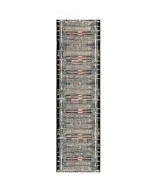 "Liora Manne Marina Tribal Stripe 1'11"" x 7'6"" Runner Rug"