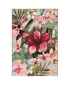 "Marina Tropical Floral Multi 3'3"" x 4'11"" Area Rug"