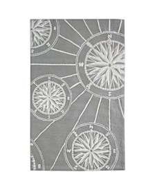 """Frontporch Compass Black and Gray 3'6"""" x 5'6"""" Area Rug"""
