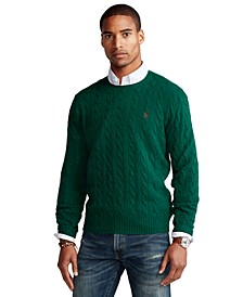 Men's Cable Wool-Cashmere Sweater
