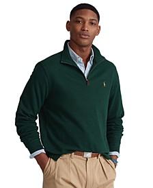 Men's Big & Tall Estate-Rib Quarter-Zip Pullover