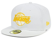 Los Angeles Lakers Whiteout Pop 59FIFTY Cap