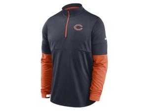 Nike Chicago Bears Men's Sideline Half Zip Therma Top