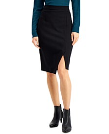 Ponté-Knit Asymmetrical Skirt, Created for Macy's