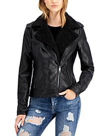 Faux-Sherpa Moto Jacket