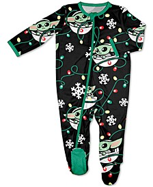 Matching Baby Holiday Baby Yoda Family Pajamas