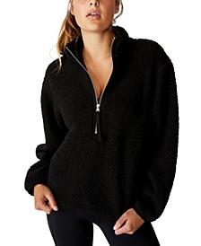 Women's Sherpa Zip Fleece Sweater