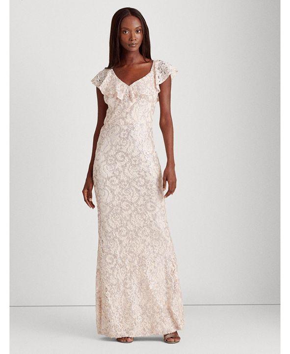 Lauren Ralph Lauren Ruffle-Trimmed Gown