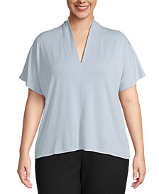 Bar III Plus Size V-Neck Blouse, Created for Macy's