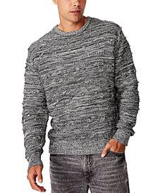 Men's Vintage-Like Multi Knit Sweater
