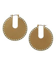 Gold-Tone Hoop Earrings