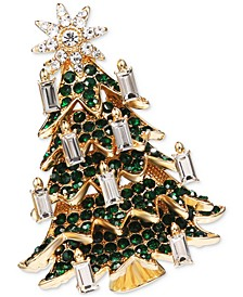Gold-Tone Crystal Tree Pin, Created for Macy's
