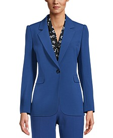 Notched One-Button Blazer, Created for Macy's
