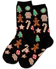 Women's Decorative Cookies Crew Socks