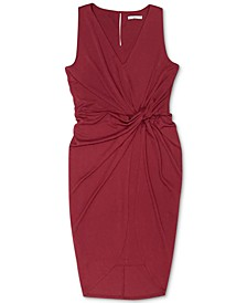 Sleeveless Twist-Front Dress, Created for Macy's