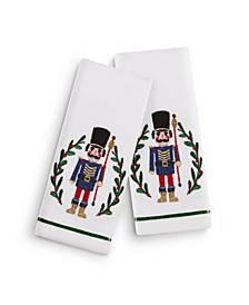 "Nutcracker 2-Pc. 11"" x 18"" Fingertip Towel Set, Created for Macy's"