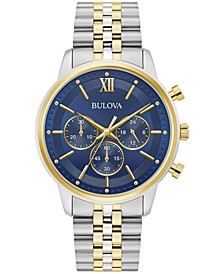 Men's Chronograph Two-Tone Stainless Steel Bracelet Watch 41mm