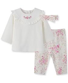 Little  Me Baby Girl Rose Pant Set