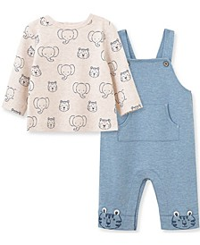 Little  Me Baby Boy Wildlife Overall Set