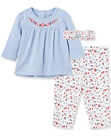 Litte Me Baby Girl Chambray Tunic Set and Headband