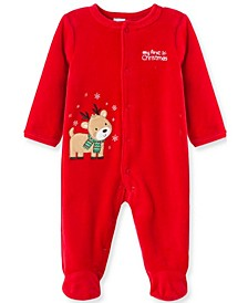 Little  Me Baby Boy Reindeer Footie