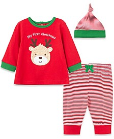Little  Me Baby Boy and Girl Deer Jogger Set