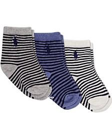 Ralph Lauren Infant Boys St. James Stripe Crew Socks 3-Pair