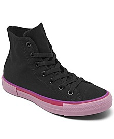 Women's Chuck Taylor All Star Popped Color High Top Casual Sneakers from Finish Line