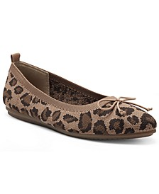 Women's Flanna Washable Knit Bow-Tie Flats