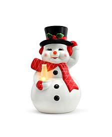 "12"" Lit Nostalgic Ceramic Figure- Snowman"