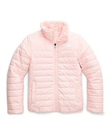 Big and Little Girl Reversible Mossbud Swirl Jacket