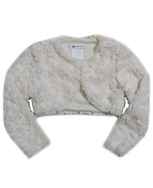 Big Girl Long Sleeve Faux Fur Lined Jacket