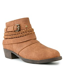 Women's Tik Tock Braided Ankle Booties
