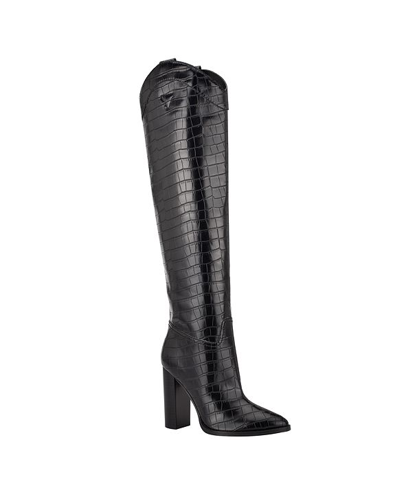 GUESS Mileena Over the Knee Western Women's Regular Calf Dress Boots