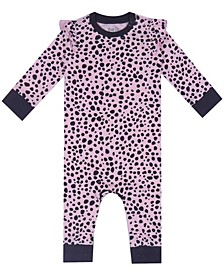 Earth Organic Baby Girl 1-Piece Jean Coverall