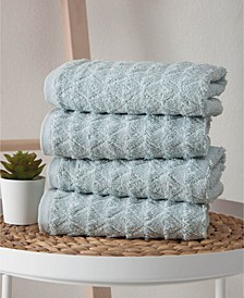 Azure Collection Hand Towels 4-Pack