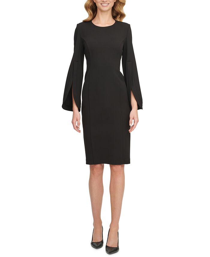 Calvin Klein - Split-Sleeve Sheath Dress