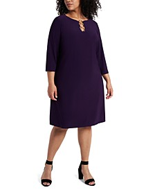 Plus Size Three-Ring Dress