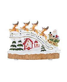 Santa's Flight Musical Figurine