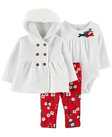 Baby Girl 3-Piece Holiday Little Cardigan Set