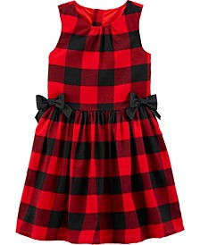 Big Girl Buffalo Check Twill Dress