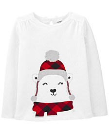 Little & Big Girl Polar Bear Jersey Tee