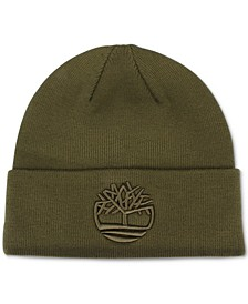 Men's Tonal 3D Embroidery Beanie