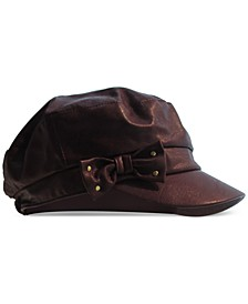 Faux-Leather Distressed Conductor Cap