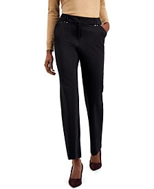 Solid Straight-Leg Trousers, Created for Macy's