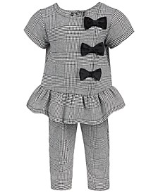 Baby Girls Plaid Bow Set, Created for Macy's