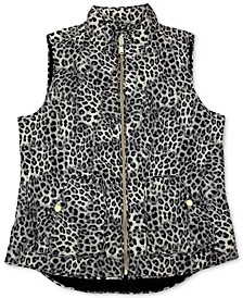 Quilted Animal-Print Vest, Created for Macy's