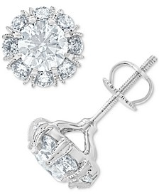 Diamond Halo Earrings (2-1/3 ct. t.w.) in 14k White Gold