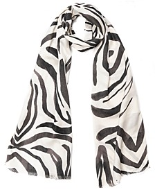 INC Zebra-Print Pashmina Scarf, Created for Macy's