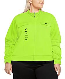 Plus Size Swoosh Polyknit Track Jacket